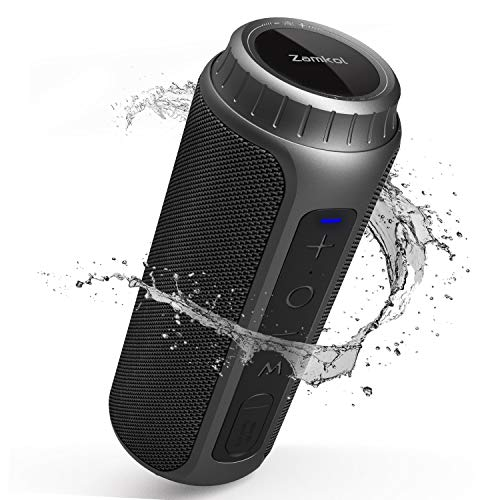 Zamkol Bluetooth Speaker Portable 30W Waterproof Wireless Speakers with Loud Stereo Sound & Enhanced Bass, Bluetooth 5.0, IPX6 for Home Party, Outdoor
