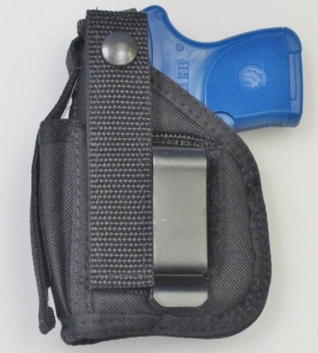 Holster for Ruger LCP & LCP II Pistol with Underbarrel Laser Mounted on Gun - IWB or Belt Use