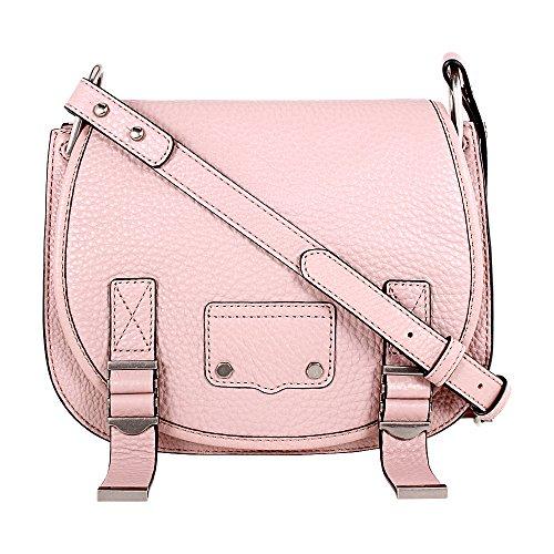 Rebecca Minkoff Ladies Small Pink Leather Saddle Bag HF17FMDL28