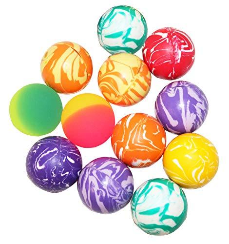 SNInc. Hi Bounce Ball Assortment of 12 Bouncing Balls