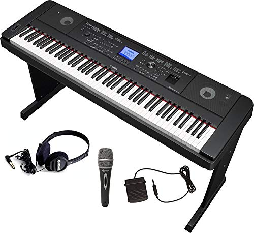 Yamaha DGX660 Bundle with Furniture Stand, Headphones, Microphone and Sustain Pedal