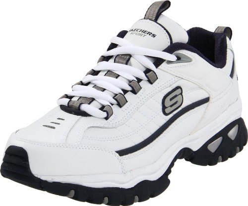 Skechers mens Energy Afterburn road running shoes, White/Navy, 10.5 US