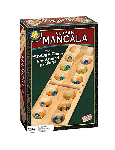 Mancala Board Game - Classic Strategy Game for Family and Friends Ages 7 Years and Up