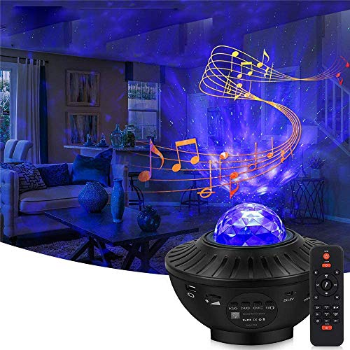 Children's Day Gifts Clearance Star Projector, Galaxy Skylight Night Light Projector Music Player Nebula Starry Projector with Remote & Bluetooth Speaker for Bedroom Teen,Kids, Adults
