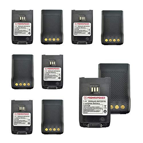 Two Way Radio 2000mAh Li-ion Battery for Hytera BL2010 BL1504 UL913 PD562 PD502 PD682G (10-Pack)