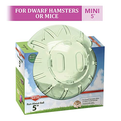 Kaytee Dwarf Hamster Mini Run-About Exercise Ball, Color May Vary