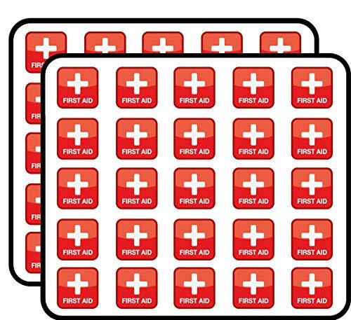 First Aid Symbol Badge Sticker for Scrapbooking, Calendars, Arts, Kids DIY Crafts, Album, Bullet Journals 50 Pack