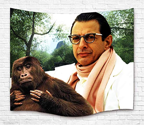 Jeff Goldblum Custom Tapestry Hanging Tapestry Wall Art For Home Decor Bedroom Dorm Room Living Room Soft Polyester Fabric 60'W x 50'H