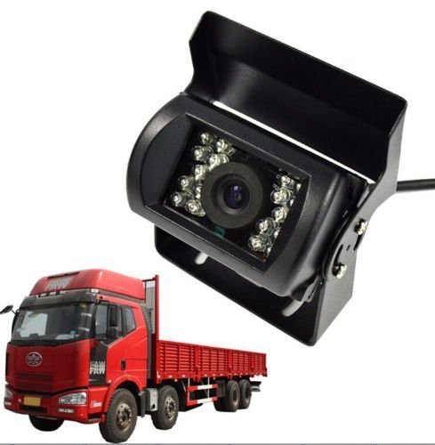 Rear View Camera, Truck Camera for Backup Reversing, HD CCTV Camera Waterproof for Truck Lorry Pickup Bus Vehicle Caravans Camper Van with 30 FT Video Cable, IR Night Vision DC 12V-24V