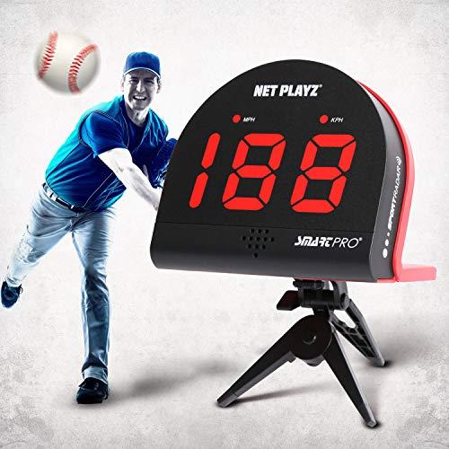 NetPlayz Baseball Radars, Speed Sensors Training Equipment (Hands-Free Radar Guns, Pitching Speed Guns   Baseball Gifts, High-Tech Gadget & Gear for Baseball Players