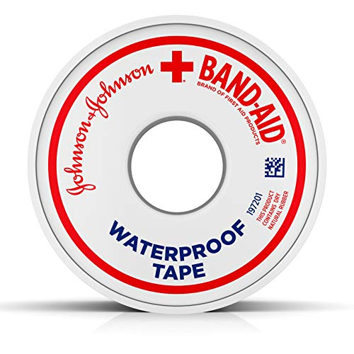 Red Cross Band-Aid Brand of First Aid Products Waterproof Tape to Secure Bandages, 1 Inch by 10 Yards