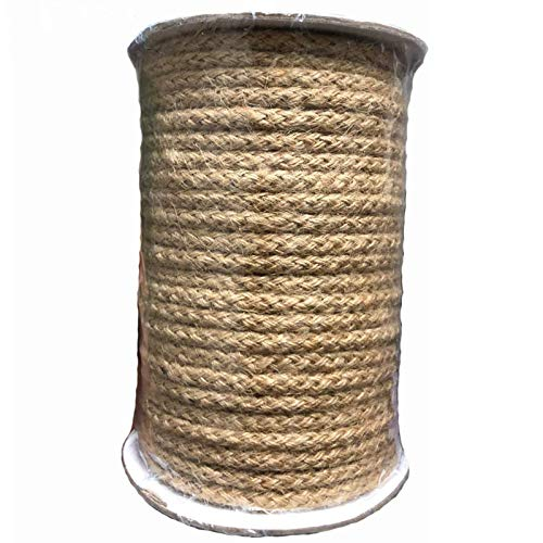Feelmate 5mm Jute Twine 100 Feet Braided Natural Jute Rope for Artworks and Crafts, Macrame Projects, Gardening Applications