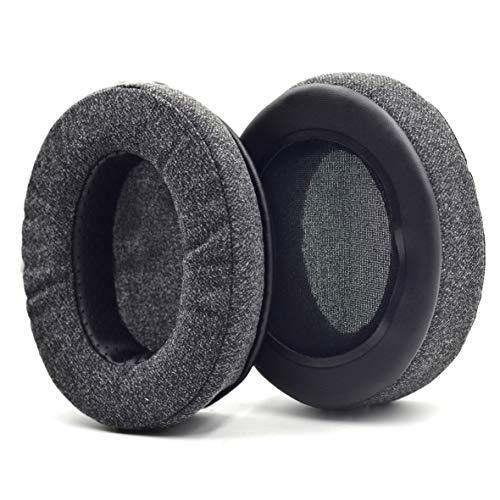 Defean Upgrade Ear Pads Replacement Gray Flannel Memory Foam Softer Foam for Audio-Technica M20 M20X M25 SX1 M30 M30X M30s M35 M40 M40X M40s M50 M50X M50s MSR7 PRO5 WS770 T500 Headphone