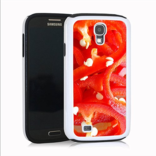 Galaxy S4 Case, Red Peppers Design, Protective, Impact Resistant and Anti Scratch