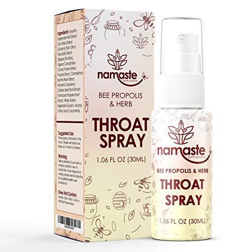 Bee Propolis Throat Spray - 99% Bee Propolis Extract - Natural Immunity Boosting Spray for Children and Adults - Works for Cold, Cold Sore, Flu, Coughs, Sore Throats (3 Pack, Bee Propolis & Herb)
