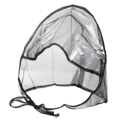 La Mart Rain Bonnet With Full Cut Visor & Netting - Black,2 Pack