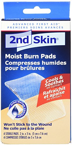 Spenco 2nd Skin Moist Burn Pads, Medium (2 x 3 Inches), 4-Count
