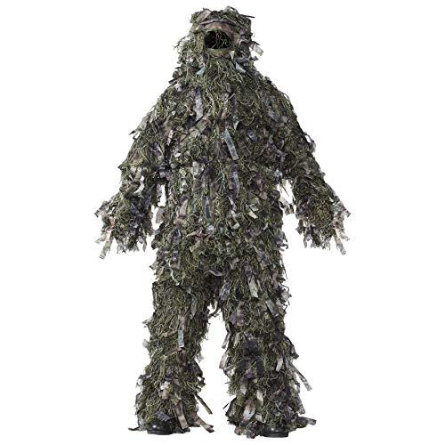 HOT SHOT Men's 3-Piece 3-D Ghillie Suit, Woodland Camo – Hunting Ghillie Suit