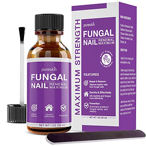 Fungal Nail Renewal - Extra Strength Nail Fungus Treatment, Toe Fungus Nail Treatment, Best Herbal Formula AntiFungal Treatment For Nail Fungus, Athlete's Foot, Ringworm By Fungus
