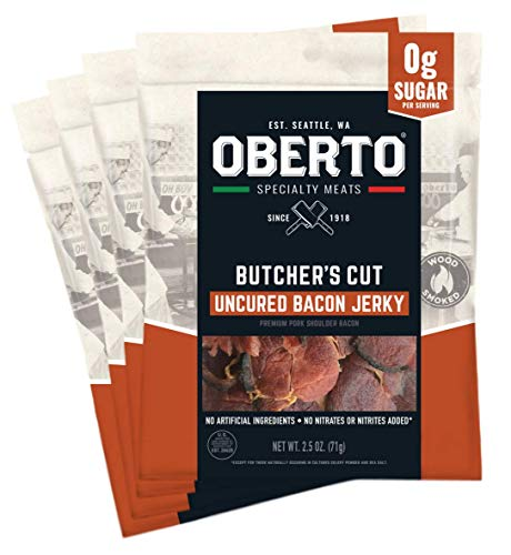 Oberto Specialty Meats Butcher's Cut Bacon Jerky, 2.5 Ounce (Pack of 4)