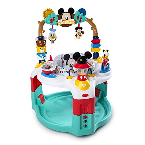Bright Starts Disney Baby Mickey Mouse Camping with Friends Activity Saucer with Lights and Melodies, Ages 6 months +