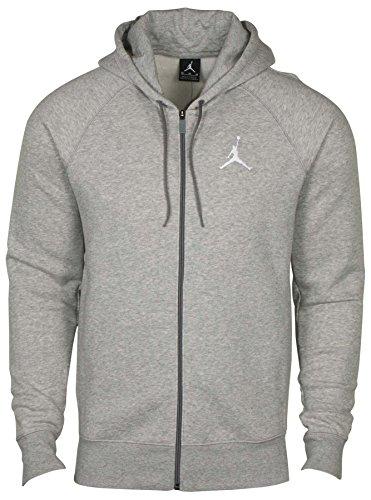 Nike Jordan Flight Men's Basketball Full-Zip Hoodie Dark Grey Heather