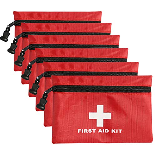 6 Pack Mini First Aid Kit Empty Pouch, Travel Empty First Aid Kit Pouch Bag for Emergency at Home, Office, Car, Outdoors, Boat, Camping, Hiking(Bag Only)
