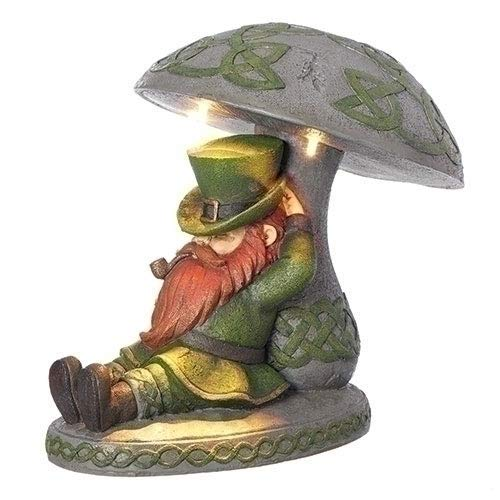 Roman LED Solar Garden Statue, one Size, Green, Gray