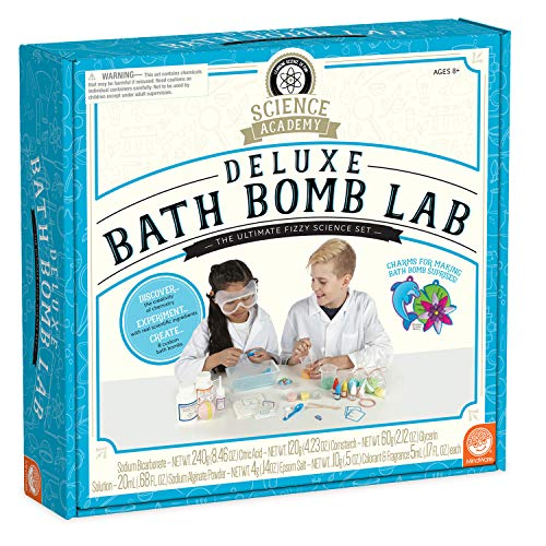 Science Academy Deluxe Bath Bomb Making Lab Kit – Kids & Teens Create 8 Bath Bombs with Our 34pc Science kit – A Creative DIY Chemistry kit for Both Boys & Girls – Great Gift for Children & Teenagers