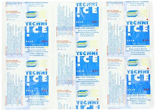 Techni Ice Reusable Ice Packs HDR (Heavy Duty Reusable) Model (4 Layer/ply Model) (2 Packs)