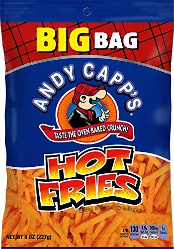 Andy Capp's Big Bag Hot Fries, 8 oz, 8 Pack