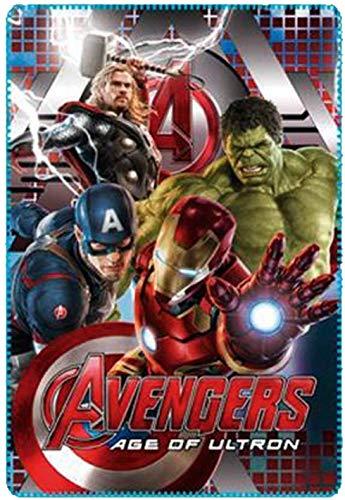 Marvel Avengers Kids Fleece Blanket (Blue)