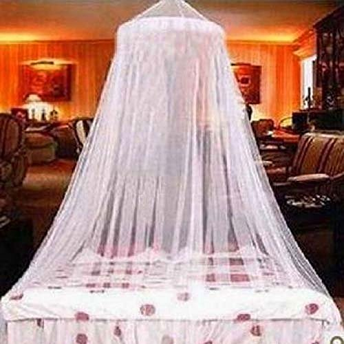 Elegant Lace Bed Canopy Mosquito Net White by GREEN FABWOOD