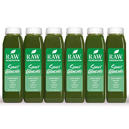 Raw Generation Sweet Greens Juice - High Protein Green Juice/Healthiest Way to Lose Weight & Stay Strong / 18 Count