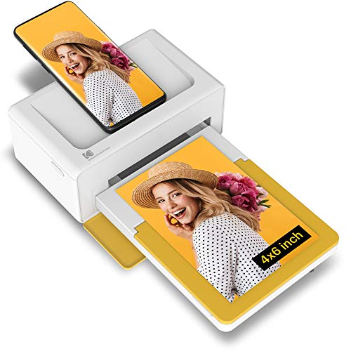 """Kodak Dock Plus 4x6"""" Portable Instant Photo Printer (2021 Edition), Compatible with iOS, Android and Bluetooth Devices Full Color Real Photo, 4Pass & Lamination Process, Premium Quality - Convenient"""