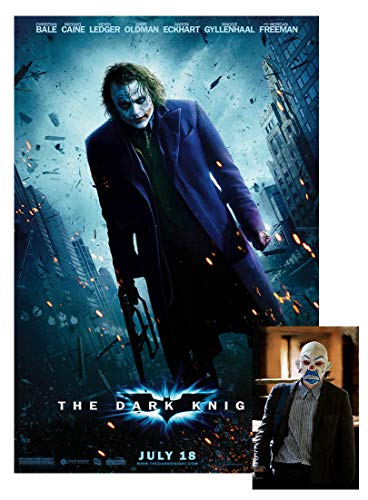 The Dark Knight Movie Poster 24'x36' This is a Certified Poster Office Print with Holographic Sequential Numbering for Authenticity.