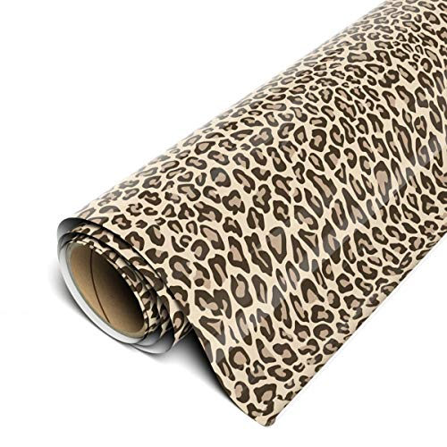 Siser EasyPatterns HTV 12' x 12' Sheets (3 Pack) - Iron on Heat Transfer Vinyl (Leopard Tan) TTD High Tack Mask Required - Sold Separately