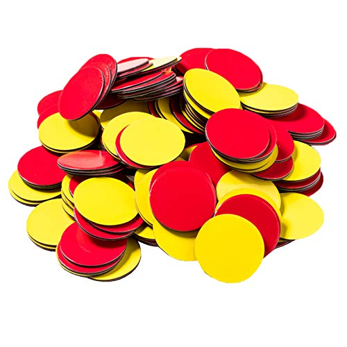 Dowling Magnets Magnetic Two-Color Counters (red/Yellow, 1 inch Diameter Each), Set of 200