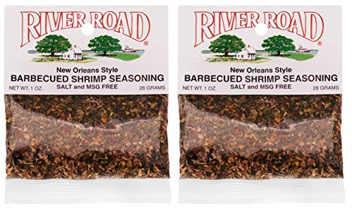 River Road Salt-Free No MSG Barbecued Shrimp Seasoning, 1 Ounce Bags (Pack of 2)