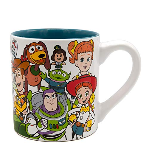 Silver Buffalo Pixar Toy Story Character Collage Ceramic Mug, 14-Ounces, Multicolor
