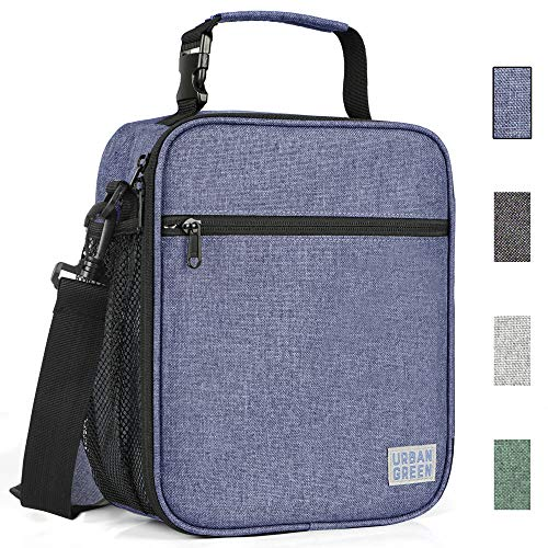 Insulated Lunch Bags for men woman kids by Urban Green, Reusable Adults Thermal Lunch Tote Bags with buckled handle shoulder strap, Cooler Bags, Lunch Box, Bento Box, Best Gift for Father's Day