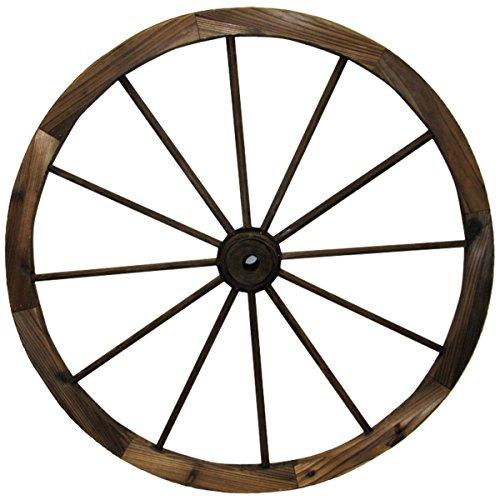 Leigh Country TX 93951 30' Wagon Wheel, 30 Inch, Walnut Finish