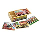 Melissa & Doug Wooden Jigsaw Puzzles in a Box - Vehicles