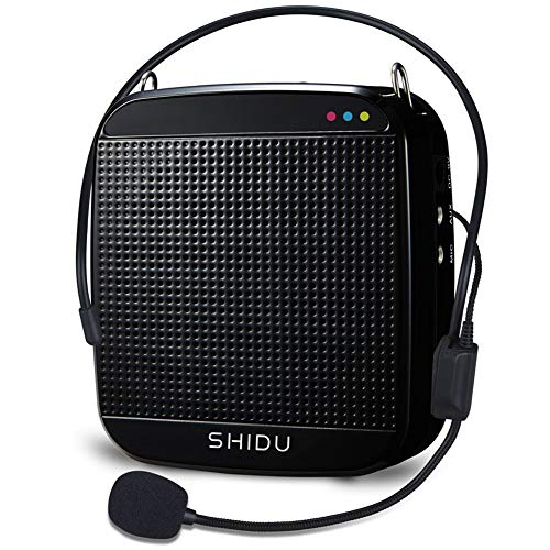 SHIDU Voice Amplifier with Wired Microphone Headset and Waistband Portable Personal Speaker Rechargeable Mini Pa System for Teachers Tour Guides Coaches Classroom Singing Yoga Fitness Instructors