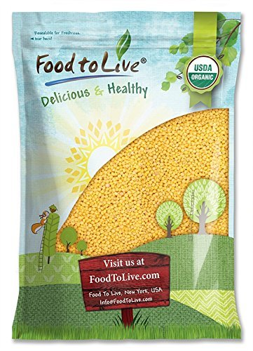 Organic Hulled Millet, 15 Pounds — Whole Grain Seeds, Non-GMO, Kosher, Raw, Bulk, Product of the USA