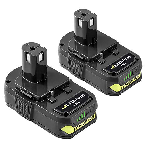 2Pack 18V 3.0Ah Battery for Ryobi 18V Lithium Battery ONE+ Plus Replacement for P102 P103 P104 P105 P107 P108 P109 P122