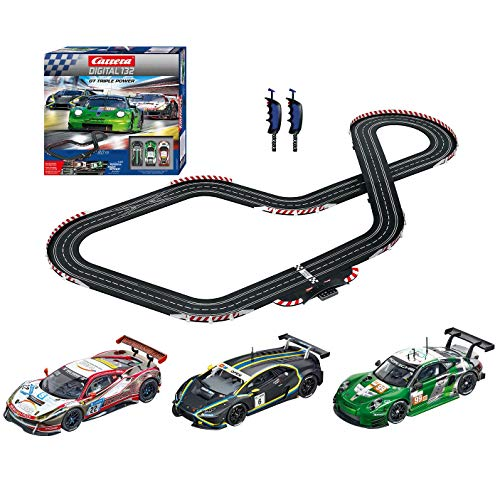 Carrera 30007 Digital 132 GT Triple Power Slot Car Racing Set Includes 3 Cars 1:32 Scale