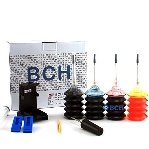 Ink Refill Kit by BCH - for PG-260 CL-261 TS5320 / PG-240 CL-241 Inkjet Printer Cartridges - First-Timer Kit with Tools - EZ30-T