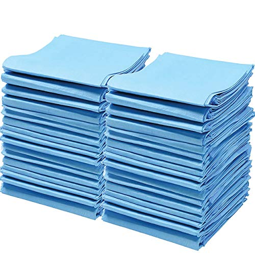 Chucks Pads Disposable [50 Pack] Underpads 23x36 Incontinence Chux Pads Absorbent Fluff Protective Bed Pads, Pee Pads for Babies, Kids, Adults & Elderly | Puppy Pads Large for Training Leak Proof