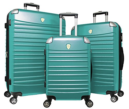 World Traveler Expedition 3-piece Hardside Spinner Luggage Set-Green, One Size